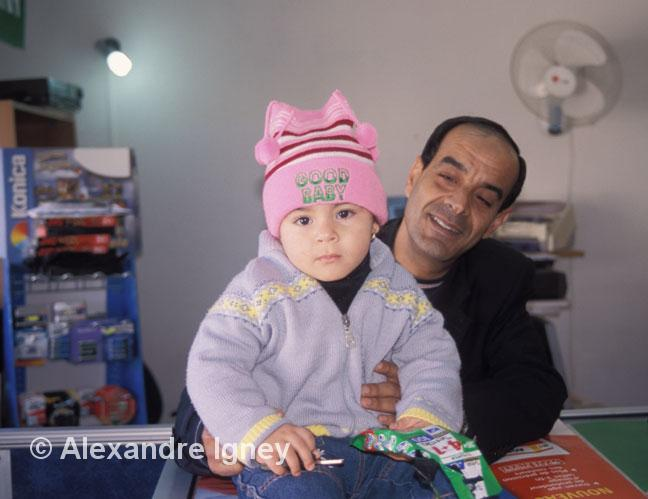 algerian father with baby