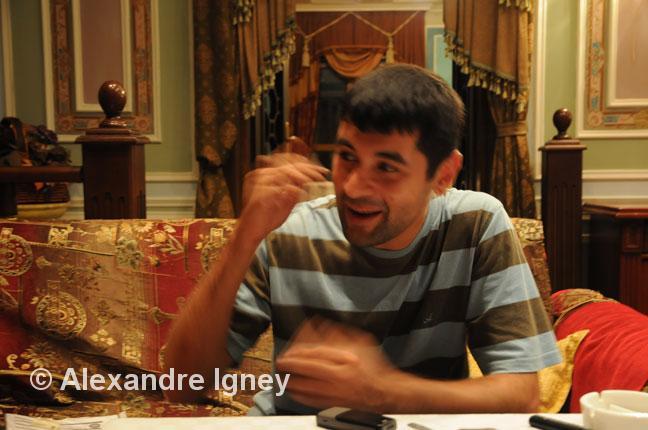 young executive in a Baku restaurant
