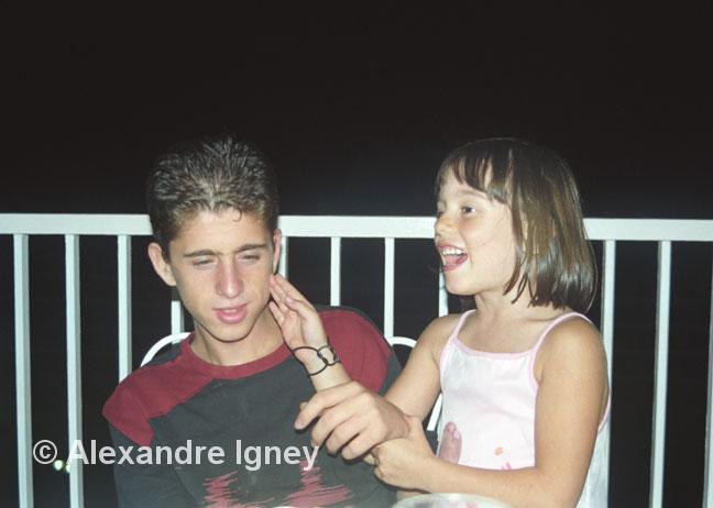 Greco-Salvadoran girl teases Albanian boy