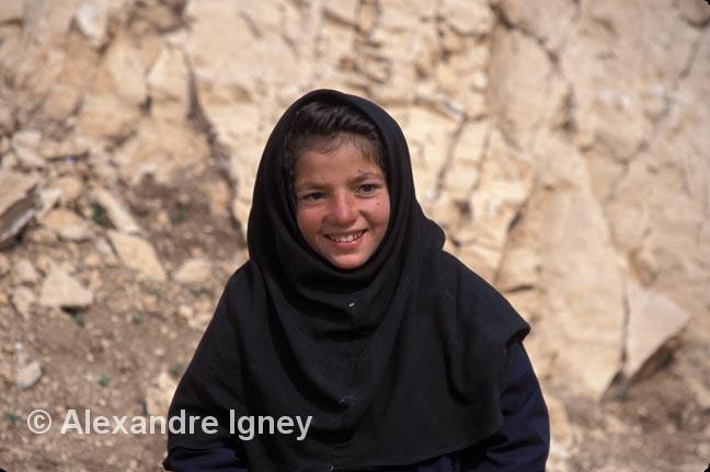 Little Iranian girl in chaddor