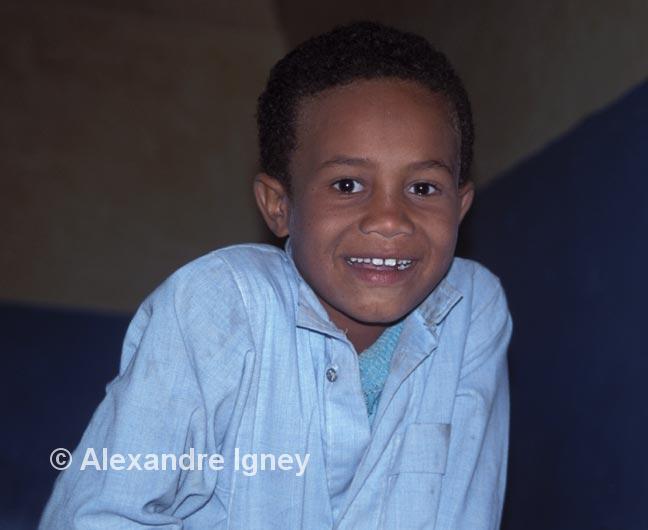 Nubian boy smiles